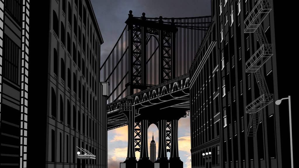 Мультфильм о старом Нью Йорке